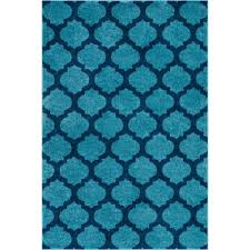 Modern Trellis Rug Well Woven Mystic Zoe Light Blue 7 Ft 10 In X 9 Ft 10 In