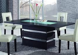 dining table center wenge frosted center glass wood dining table w rectangle shape