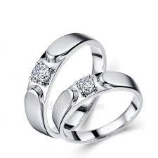cincin emas putih model cincin kawin emas putih 75 18 karat dan perak 925 gd41033