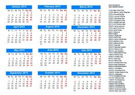2015 calendar template with holidays printable 28 images 2015