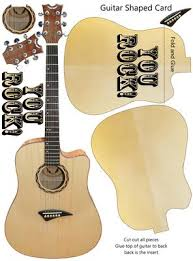 guitar shaped birthday s day card cup328026 1446