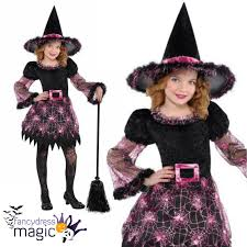 costume of witch deluxe girls childs darling witch halloween fancy dress costume