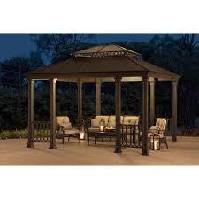 Roman Gazebo Table by Amazon Com Sunjoy 110101053 Catelynn Gazebo Patio Lawn U0026 Garden