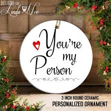you re my person grey s anatomy tv show ornament