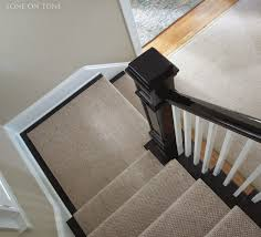 Sisal Stair Runner by Tone On Tone A Living Room Project
