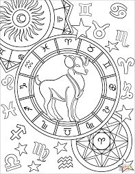 zodiac color aries zodiac sign coloring page free printable coloring pages