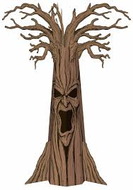 spooky cemetery clipart haunted spooky tree decoration scary halloween decorations