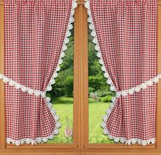 rideau cuisine rideaux bonne femme vichy marron crème et bleu
