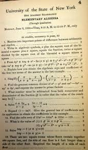 my 100th post so why not bash algebra granted and