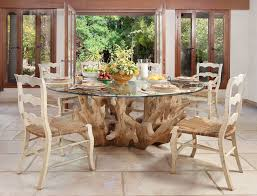 glass buffet table dining room contemporary with tile flooring