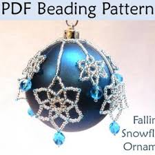 beading tutorial pattern ornaments snowflakes