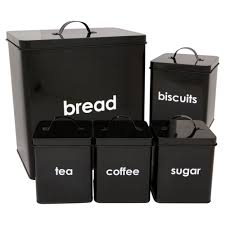 black canisters for kitchen amazon co uk tea u0026 coffee storage home u0026 kitchen
