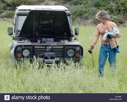 land rover military defender explorer kypros and son testing electric winch land rover