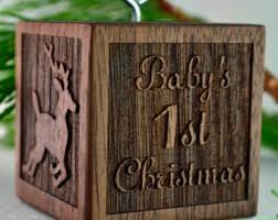 personalized baby block ornament block ornament etsy