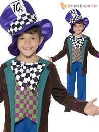 boys deluxe mad hatter costume kids world book week day fancy