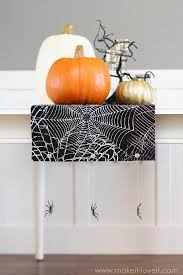halloween table runners no sew halloween table runner with hanging spiders from my
