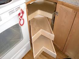 Brown Wooden Cabinet Blind Corner Cabinet Design Pull Out System Outofhome