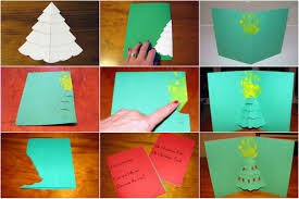 3d christmas cards make a christmas tree pop up card christmas lights decoration