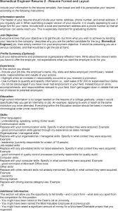 Biomedical Engineer Resume Biomedical Engineer Resume 36 Job Winning Engineering Resume