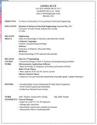electronics engineer resume sample electrical engineer resume