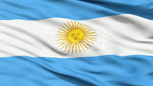 Flag Yellow Sun Flag Of Argentina Close Up Background Royalty Free Video And