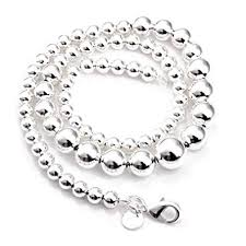 silver plated bead necklace images 8mm ball bead necklace 925 sterling silver plated designer jpg
