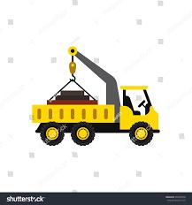 crane truck icon flat style stock vector 465255578 shutterstock