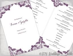 design your own wedding program plum catholic wedding program template antique