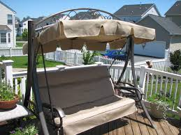 Swings For Patios With Canopy Another Made In Usa Costco Patio Swing Replacement Canopy And