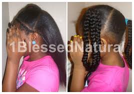 1bn kids banded braids and ponytails