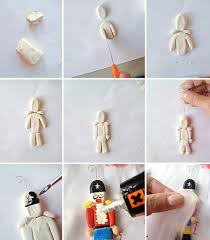 diy clay nutcracker ornaments handmade