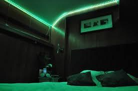 neon chambre chambre supérieure avec led vert de déco photo de le