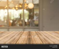 Wooden Table Wooden Board Empty Table Top On Of Blurred Background Perspective