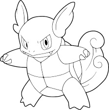 pokemon wartortle coloring page pokemon wartortle anime throughout