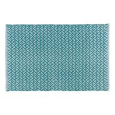 Teal Kitchen Rugs Now Designs Teal 24 In X 36 In Woven Kitchen Mat