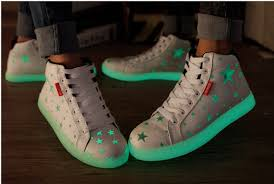 size 5 light up shoes 5 10 us size unisex canvas glowing shoes mens women 2016 new fashion