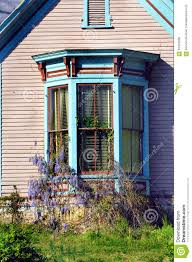 bay window and wysteria stock photo image 63476098