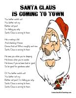 santa claus is coming to town lyrics songs lyrics