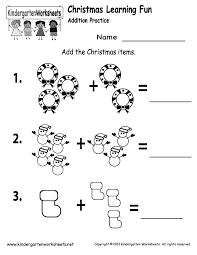 Math Worksheets Kindergarten Marvelous Christmas Addition Worksheet Free Kindergarten Holiday