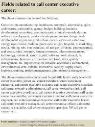 top 8 call center executive resume samples