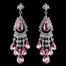 Pink Chandelier Earrings Silver Pink Chandelier Earrings 24792