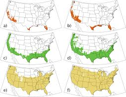 United States Time Zone Map by Projected Changes In Cold Hardiness Zones And Suitable Overwinter