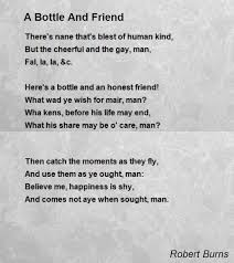 wedding quotes robert burns a bottle and friend poem by robert burns poem