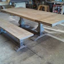 Rectangular Dining And Kitchen Tables CustomMadecom - Trestle kitchen tables