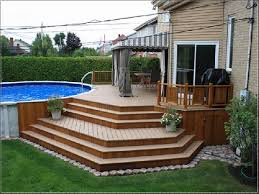 Above Ground Pool Design Ideas How To Maintain Budget In Building Above Ground Pool Deck A Pool