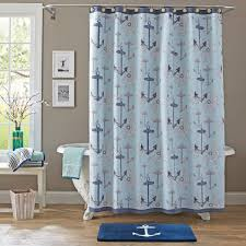 Shower Curtain Better Homes And Gardens Nautical Shower Curtain Walmart Com