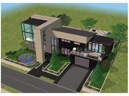 Small Contemporary House Plans I Like The Green Yard Landscaping Sims Pinterest Sims