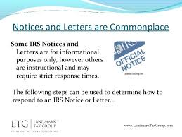 how to respond to an irs notice or letter irs tax help relief