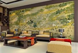 Wall Painting Designs For Bedroom Living Room Wall Painting Living Room Modest On Within Design 9