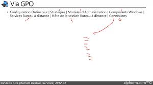 service bureau distance tuto rds 2012 r2 disponibilité du serveur hôte de session des